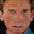 Daniel Craig Oil Painting by Dyanne Parker