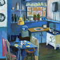 Danish Kitchen by Art Nomad Sandra  Hansen