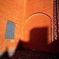 Danish Orange And Shadows  Copenhagen Denmark by Derek Moore
