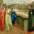 Dante And Beatrice by Henry Holiday