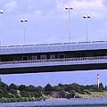 Danube River Bridges by Ian  MacDonald