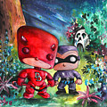 Funkos Daredevil And The Phantom In The Jungle by Miki De Goodaboom