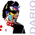 Dario Franchitti Pop Art Style by Jim Bryson