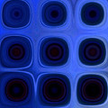 Dark Blue A by Patty Vicknair