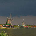 Dark Clouds Above Zaanse Schans by Frans Blok