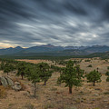 Dark Clouds Passing In Rocky Mountains Np by Michael Ver Sprill
