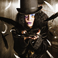 Dark Fashion Girl Making Magic And Mystery Wish by Jorgo Photography - Wall Art Gallery
