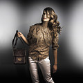 Dark Fashion Style With Fashionable Bag Accessory by Jorgo Photography - Wall Art Gallery