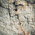 Dark Fissures On Limestone Rock by Jozef Jankola