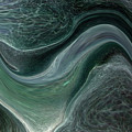 Dark Green Flow by Allan  Hughes