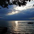 Dark Morning Skies On Lake Erie by Mike Murdock