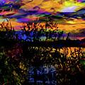 Dark Shadowy Sunset by Ron Fleishman