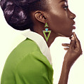 Dark Skinned Woman In Updo With Big Curls by Gemree Mangilit