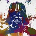 Darth Vader Paint Splatter by Dan Sproul