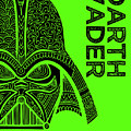 Darth Vader - Star Wars Art - Green by Studio Grafiikka