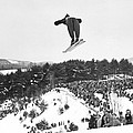 Dartmouth Carnival Ski Jumper by Underwood Archives