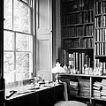 Darwins Study And Microscope, Down House by Wellcome Images