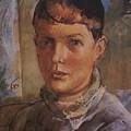 Daughter Of The Artist 1933 Kuzma Sergeevich Petrov-vodkin by Eloisa Mannion