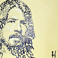 Dave Grohl Word Portrait With The Word Kurt Cobain by Jacob  Hitt