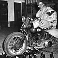 Dave On A Harley Tulare Raiders Mc Hollister Calif. July 4 1947 by California Views Archives Mr Pat Hathaway Archives