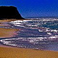 Davenport Landing Beach Purple by Scott L Holtslander