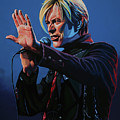 David Bowie Live Painting by Paul Meijering
