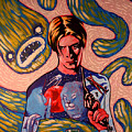 David Bowie Song Reference Painting by Jason  Wright