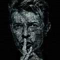 David Bowie Text Portrait - Typographic Poster With Album Titles And Background With Songs Names by JESP Art and Decor