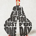David Bowie Typography Art by Inspirowl Design