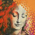 Davinci's Head by Jean Pierre Rousselet