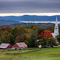 dawn arrives at sleepy Peacham Vermont by Jeff Folger