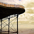 Dawn At Colwyn Bay Victoria Pier Conwy North Wales Uk  by Mal Bray