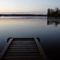 Dawn At Lynx Lake In Northern Saskatchewan by Mark Duffy
