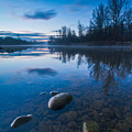 Dawn At River by Davorin Mance