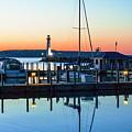 Dawn At The Algoma Pierhead Light by Jeff Kurtz
