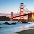 Dawn At The Golden Gate Bridge, San Francisco, California, Usa by Matteo Colombo