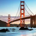 Dawn At The Golden Gate Bridge, San Francisco by Matteo Colombo