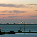 Dawn At The Sunshine Skyway Bridge Viewed From Tierra Verde Florida by Mal Bray