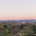 Dawn Breaks Over The City Of Asheville by MM Anderson