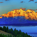 Dawn On The Tetons by Greg Norrell