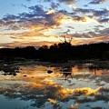 Dawn Over Boerne Creek by Karen Trunko