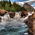 Dawn Upon Swiftcurrent Falls  by Michael Morse