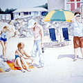 Day At The Beach by Anne Rhodes