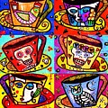 -day Of The Dead Cafe Cups by Sandra Silberzweig