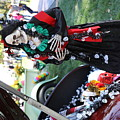 Day Of The Dead Car Trunk Skeleton  by Chuck Kuhn