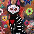 Day Of The Dead Cat El Gato by Pristine Cartera Turkus