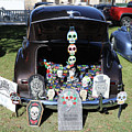 Day Of The Dead Classic Car Trunk Display  by Chuck Kuhn