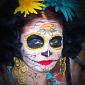 Day Of The Dead Flower Lady by Robin Zygelman