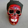 Day Of The Dead Skulls-biker Dude by  Gayle  Hartman