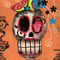 Day Of The Dead Watermelon by  Abril Andrade Griffith